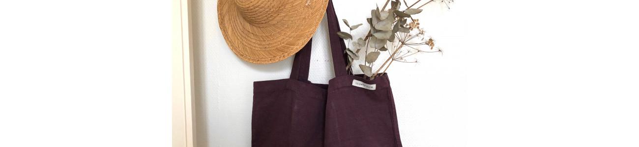 Les créations en lin recyclé, textile et linge ancien teint par La-Petite-Puce